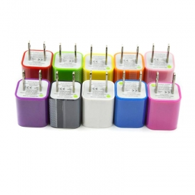 Universal 5V~1A USB Mobile phone Charger Adapter for iPhone Samsung and Others(Assorted Colors)-USA