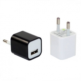 EUR Universal 5V~1A USB Mobile phone Charger Adapter for iPhone Samsung and Others(Assorted Colors)