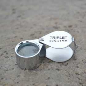 30X 21mm Triplet Jewelers Eye Loupe Magnifier Magnifying Glass Jewelers Jewelry Diamond