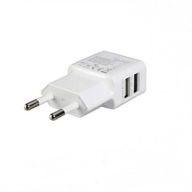 General 1.0~2.0A Dual USB output port Mobile phone Charger Adapter for Samsung iPhone and Others