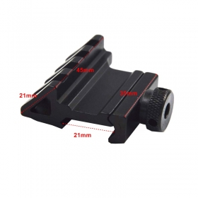 Tactical 45 Degree 21mm Rail Mount Universal Picatinny Rail Weaver Quick Release Off set hunting mount 1PC - Y25