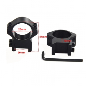 1pair 25mm scope mount Ring Profile 20mm Rail hunting accessories - M44