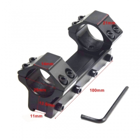 1PC 25mm mount 11mm Weaver Rail For Rifle Scope Through Mount 100mm length hunting accessories - L50