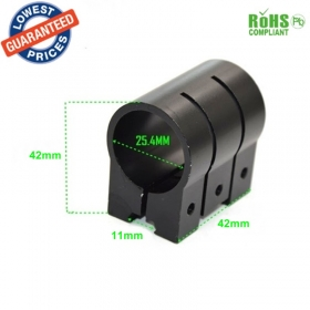 M-22 25.4mm Ring Tactical Laser Scope Sight Weaver Picatinny 11mm Rail Rifle Mounts(1pc)