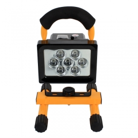 H02 10W 7 LED Portable Rechargeable Cordless LED Spot Light Flood Light Durable IP65 Waterproof Emergency Light Security Lights with Built-in Li-ion Batteries