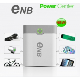 2015NEW ENB 4*18650 battery Box Shell SMART POWER BANK Case for iPhone Samsung Nokia Blackberry MP3/4 With USB Data Cable