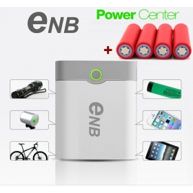 2015NEW ENB 4*18650 battery Box Shell SMART POWER BANK Case for iPhone Samsung Nokia Blackberry MP3/4 With USB Data Cable/4xSanyo battery