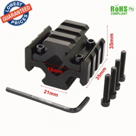 Y0034 Universal Barrel Mount 4 Rail Picatinny Weaver Rail w 4 Slots fit for Scope Optics Lasers hunting accessories - 1PC