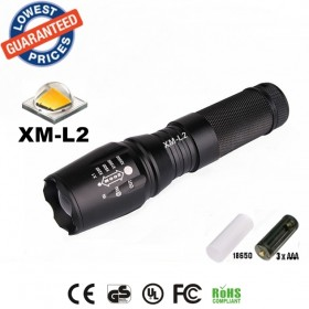 UltraFire E26 CREE XM-L2 led 2200Lumens Zoomable Flashlights Torches lamplights for 26650/18650/AAA Battery rechargeable