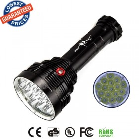 SKYRAY S88 Super bright waterproof 16xCREE T6 LED 18000Lm 3Mode Hard Light Battery 16T6 LED Flashlight Torch