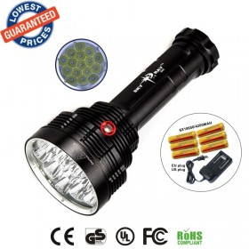 SKYRAY S88 16T6 Super bright 18000 Lumen 16xXML-T6 LEDFlashlight Strong Torch FlashLight 16T6 LED light+18650 battery+charger