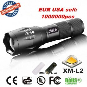 UltraFire E17 CREE XM-L2 2000Lumens cree led Torch Zoomable cree LED Flashlight Torch light For 3xAAA or 1x18650 Rechargeable batteries