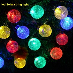 1set 30 LED 6M waterproof decorative copper globe solar powered led solar string lights outdoor Solar string light