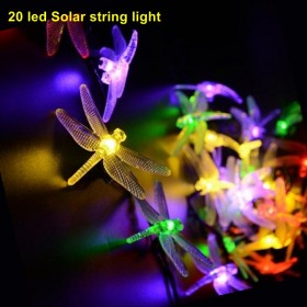 1SET 20 LED dragonflies solar 20 LED lights white light string, the party LED decorative Christmas lights garden lights