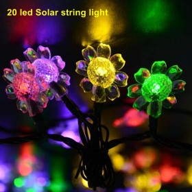 1SET 50 LED Flower solar powered Ledlamps Super Bright Solar High Power LedChristmas Lighting Lamps Solar Led StringLights