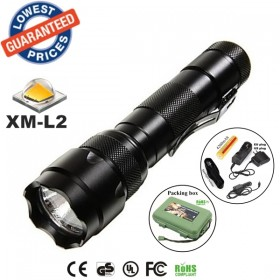 USA EU Hot sell Classic 502B 1/3/5Mode Cree XM-L2 LED tactical hunting police Flashlights Torches lamps with battery charger