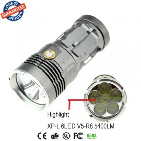 AloneFire super bright XP-L led flashlight torch V5R8-6 5400LM camping led flashlight torch light