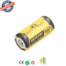 4pcs/Lot Original SKYRAY SR16340 3.7V 900mAh Lithium Li-ion Rechargeable Protected Durable Battery for Flashlight Device