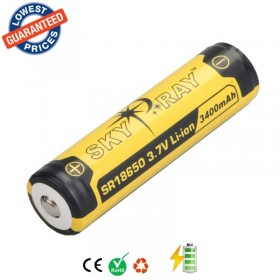 4psc/lot Original SKYRAY SR18650 3.7V 3400mAh Lithium Li-ion Rechargeable Protected Friendly Durable Battery for Flashlight Device