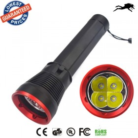 AloneFire DV300 CREE 4 X L2 U2 LED 3800lumens Stepless Dimming Diving torch camping hunting equipment Searchlight Lamp