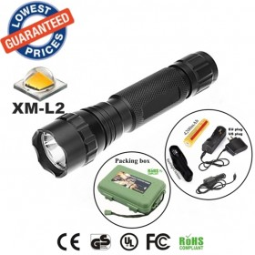 USA EU Hot sell Classic 501B 1/3/5Mode Cree XM-L2 LED tactical hunting police Flashlights Torches lamps with battery charger