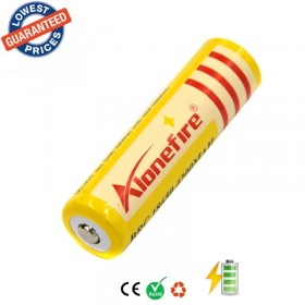 AloneFire 1pc 18650 3.7V Rechargeable Battery 4200mAh for LED Flashlight