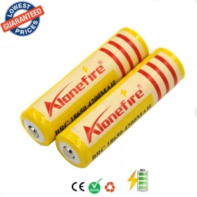 AloneFire 2pc High Quality 3.7V 4200mAh 18650 Li-ion Rechargeable Battery for led Flashlight
