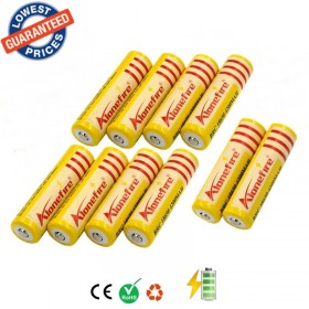 AloneFire 10pcs 18650 rechargeable Battery 3.7V 4200mAh Li-ion Camera Flashlight Torch Battery 18650
