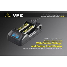 XTAR VP2 Charger XTAR VP2 with USB Output and LCD Screen Multi-function Charger