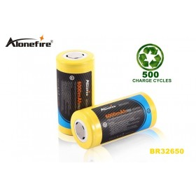 ALONEFIRE BR32650 6000mAh 3.7v Newly Designed High capacity high performance 32650 Rechargeable Li-ion Battery