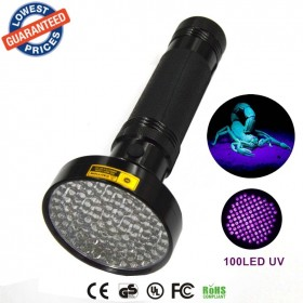 ALONEFIRE Aluminum Shell Ultraviolet light For 6xAA Anti-fake UV 100 LED 100LED UV Flashlight Money Detector