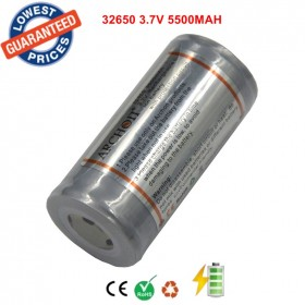 1PC 32650 Battery ARCHON Rechargeable Li-ion 32650 5500mAh 3.7v PCB Protected Battery(Explosion-proof battery )
