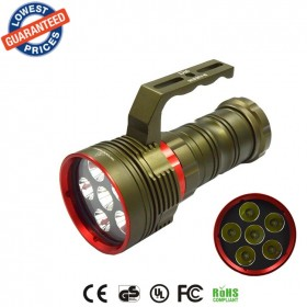 DX6 Underwater 200M Diving 9000Lm Flashlight 6 x XM-L2 LED torch lanterna Waterproof Flashlight 18650