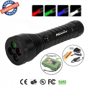ALONEFIRE RX4 CREE XPE LED Red Green Blue White multi-function Signal lamp flashlight torch with 18650 battery charger