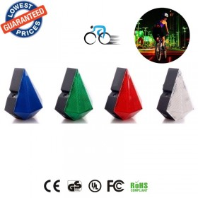BS01X Diamond shape Rechargeable Cool Waterproof Bicycle Laser Tail Light 2 Lasers+8 LEDs Bike Safety Red Rear Warning Lights Cycling Safety Caution Lamps