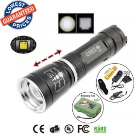 ALONEFIRE E803 cree Q5 led Zoomable LED Flashlights Torches light with 18650 battery/charger