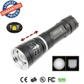 ALONEFIRE E803 CREE Q5 LED Zoom Flashlights Torches lamps for 18650 rechargeable battery