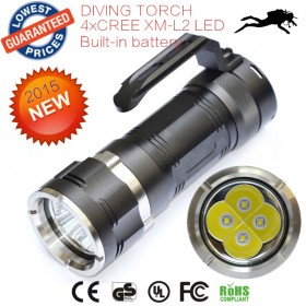AloneFire C013 Waterproof LED Diving Flashlight 7000Lumens 4XCREE XML-L2 XML L2 Diving Torch Led Flash Light lanttern Flashlight Underwater Torch Light