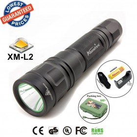 ALONEFIRE TK107 CREE XM-L2 led 2200Lumens Tactics spotlight Flashlights Torches lamps with 18650 battery/charger/Holster