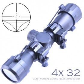 High definition 4x32 Hunting Scope Sight with laser coordinates Scope Telescopic telescope