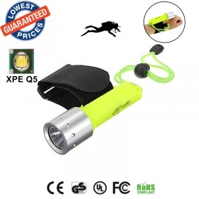 ALONEFIRE DV03 CREE XP-E Q5 LED Diving Flashlights Wrist Dive Torches Photography fill lamp lights with 18650 batteries