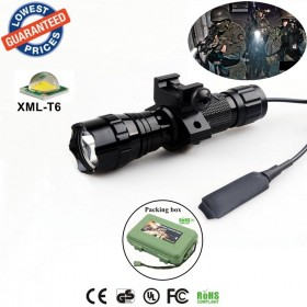 Tactical 501Bs CREE XML-T6 LED 1/3/5 mode Professional Rail-Mounted Tactical LightHunting floodlight flashlights torches
