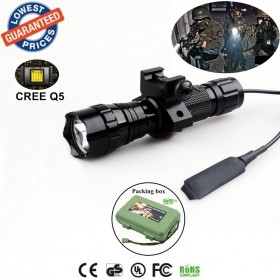 Tactical 501Bs CREE Q5 LED 1/3/5 mode Rail-Mounted Tactical Light Professional Hunting floodlight flashlights torches Lamp