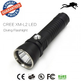 DV14 XM-L2 2000lm Diving Flashlight Underwater LED Diving Flashlights Lamp Dive Torch Light