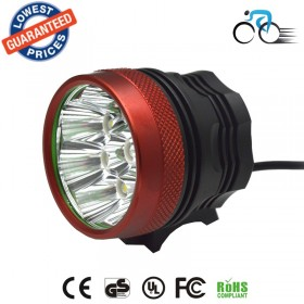 AloneFire BK-08 bicycle front light 12000LM 8x CREE XML XM-L T6 LED Cycling Bicycle Bike Light Lamp 4*18650 Battery charger set