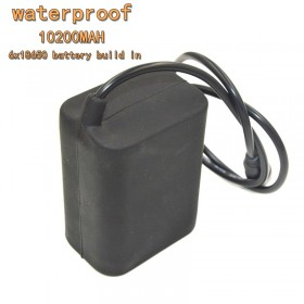 AloneFire 10200mAh waterproof Rechargeable 6*18650 8.4V Battery Pack for Bicyle Light headlamp protection bag