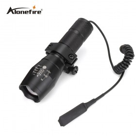 G700/E17 Tactical white led hunting Pistol flash light torch CREE T6 LED light zoomable led Waterproof Flashlight+scope mount+Remote Switch