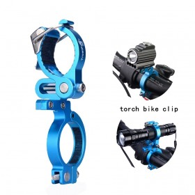 TrustFire HE02 Outdoor Sports Cycling Bike Flashlight Mount Holder Bike Torch Holder Support Clip Clamp Lantern Bike Black Bicycle Accessories