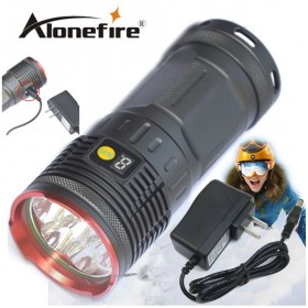 12000Lumen 7T6 Tatical Led Flashlight Torch With LCD Display 7xCree XM-L T6 Led Rechargeable Lamp linternas