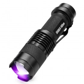 ALONEFIRE SK68uv 365nm mini Zoom UV ultraviolet light to detector lamp flashlight